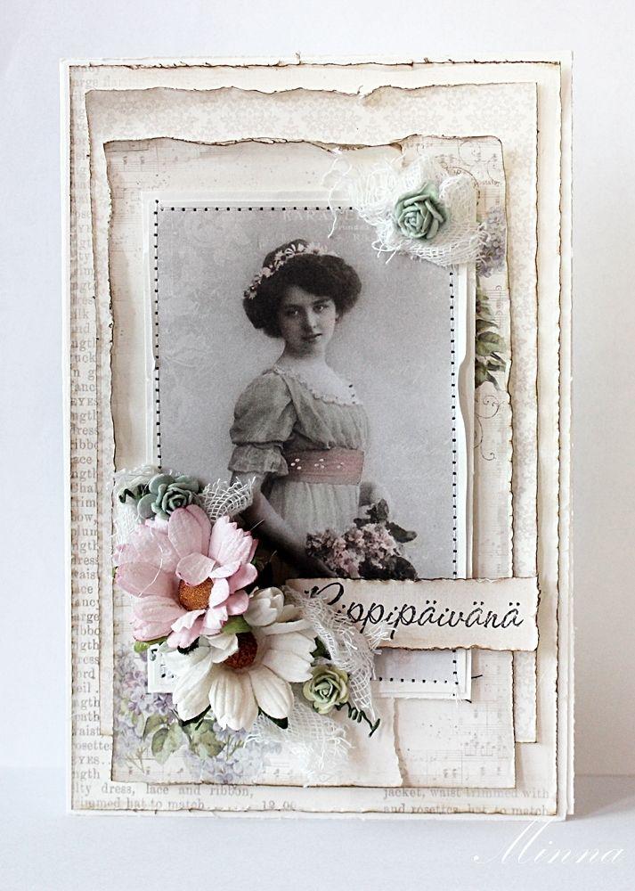 Днем рождения, старинные открытки скрапбукинг