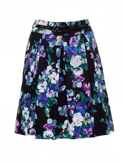 Midnight Bloom Full Prom Skirt size 10
