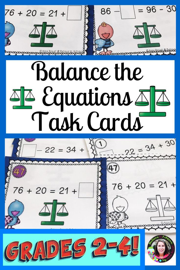Balance The Equation Addition And Subtraction Within 100 No Regroup Digital Task Cards Math Activities Elementary Addition And Subtraction Balancing addition equations game