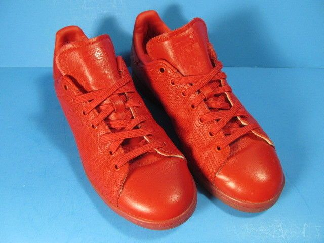 3392c0f4e7f3e adidas PERFORMANCE STAN SMITH RED LEATHER TENNIS SHOES MEN SIZE 10M ...