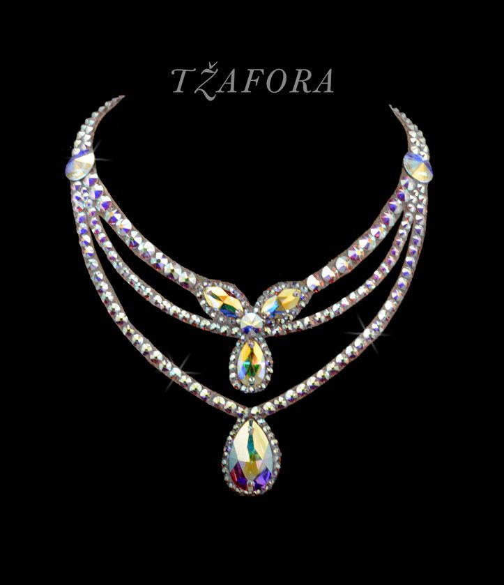"""If I Had You"" - Swarovski ballroom necklace. Ballroom dance jewelry, ballroom dance dancesport accessories. www.tzafora.com Copyright © 2016 Tzafora."