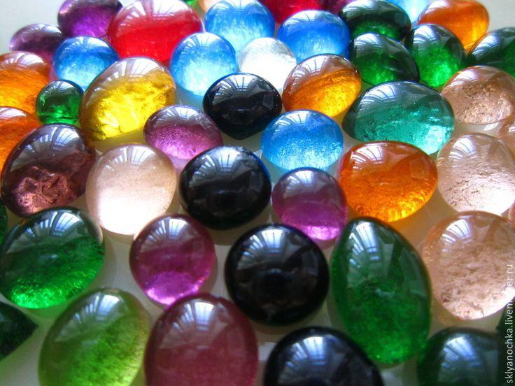 Купить Стеклянные капельки - материалы для творчества - стеклянные капельки, стеклянные камушки, материалы для творчества