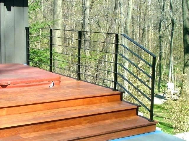 Image Result For Wood Railing Horizontal House Exterior