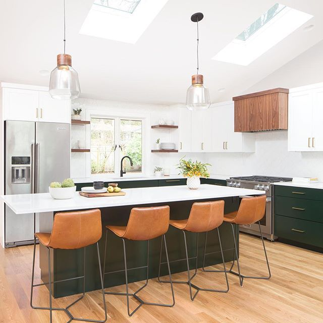Black Or Dark Island Accent With Leather Bar Stools Stools For Kitchen Island Leather Kitchen Brown Kitchen Cabinets