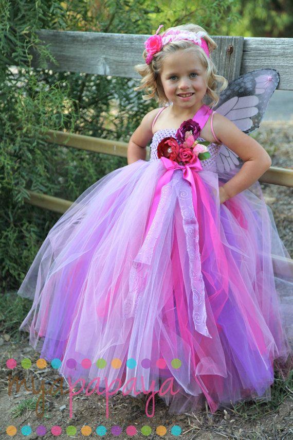 Fairy Costume Tutu Dress 12months-5t flower girl, wedding ...