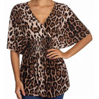 19.00€ Grande taille 46 à 62 - Top tunique imprimé léopard cache-coeur - bestyle29.com