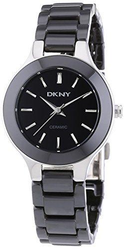 Dkny uhr ny4887 broadway damen armbanduhr ceramic schwarz