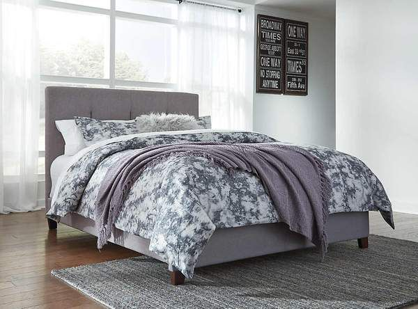 Contemporary Upholstered Queen Bed
