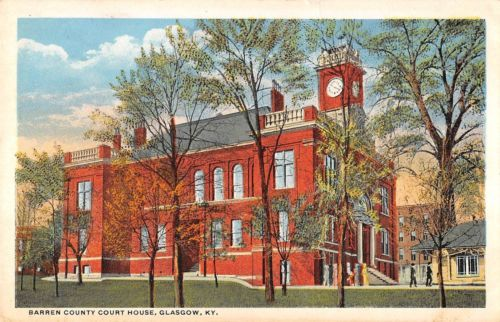Glasgow-Kentucky-view-of-Barren-County-Court-House-antique-pc-Y8073