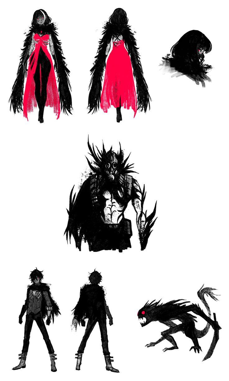 Character designs by Marika Cowan. Bandai Namco's Code Vein Teaser.