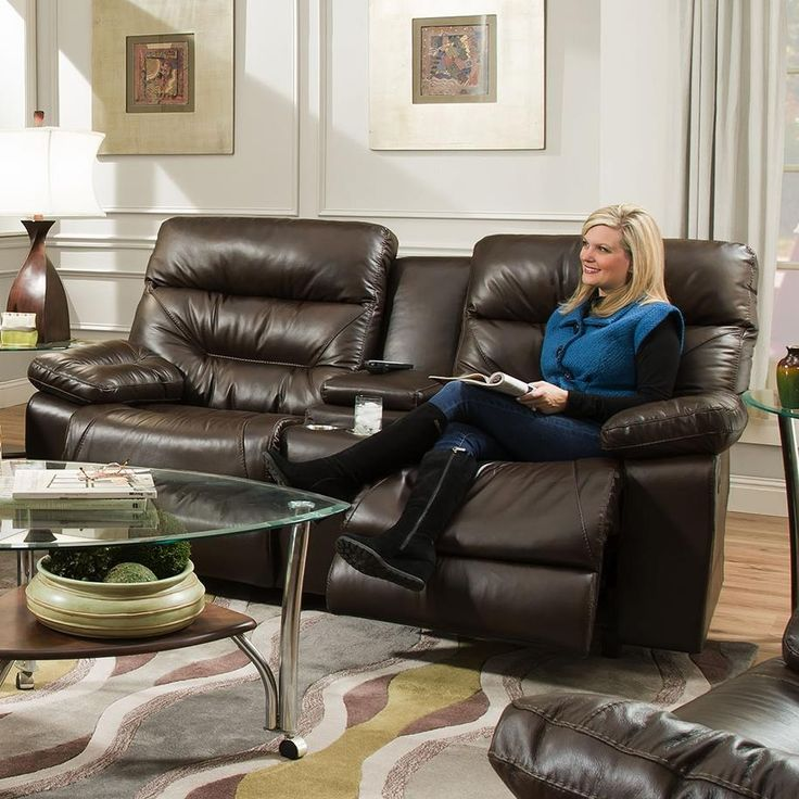 Domino Power Reclining Console Loveseat by Franklin