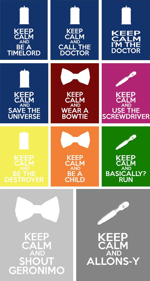 Doctor Who - Keep Calm 8x10 Poster Prints