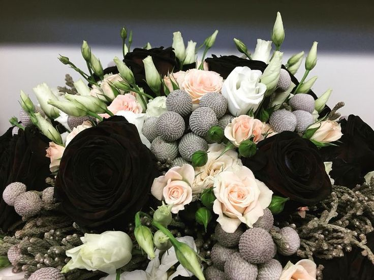 Wedding bouquet black arrangement
