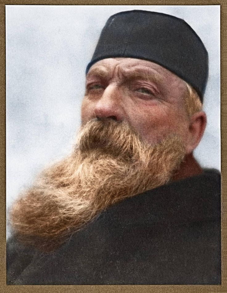 "Auguste Rodin, The French sculptor responsible for ""The Thinker"". (Colorized Photo)."