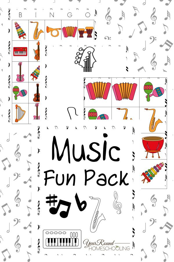 Music Bingo Matching Game Coloring Pages Puzzles