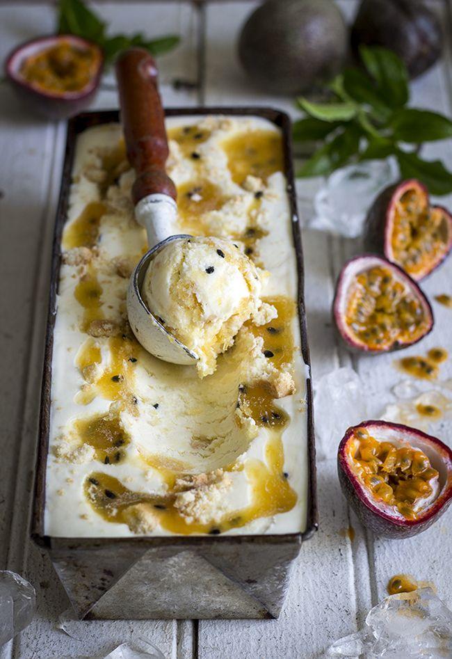 Passion Fruit Cheesecake Ice Cream {No Churn}