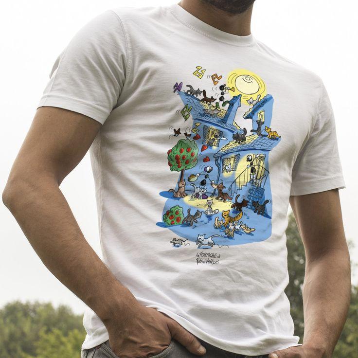 """T-shirt """"Gatti""""   Le Formiche di Fabio Vettori #gatti #cats #tshirt #gift #regalo"""