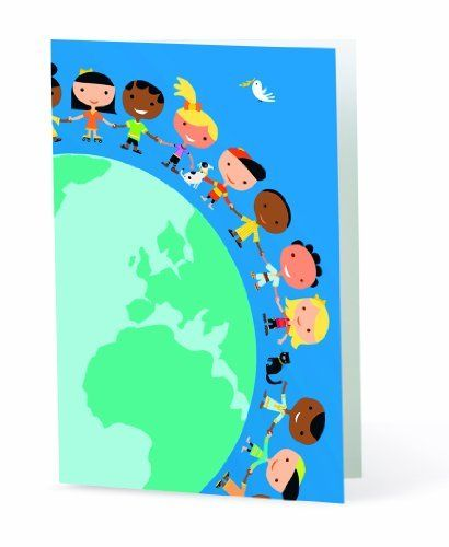 """UNICEF Kids Around a Big World Boxed Cards by UNICEF. $12.00. A sparkling gemstone, glistening blue foil and embossed detailing add dimensions to a popular UNICEF design. 12 cards, 13 envelopes. 1 design. 4 15/16"""" x 6 1/4""""."""