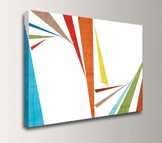Mid Century Modern Art  Canvas Print  24 x 36  by TheModernArtShop, $170.00