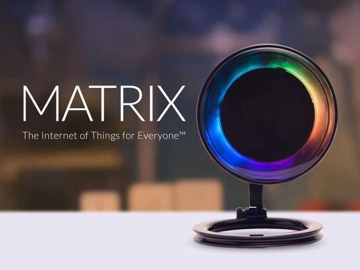 MATRIX - The World's First Smart Home App Ecosystem - Sharing our vision for the Internet of Things with the world has been amazing. We are excited to get the MATRIX in the hands of global creators and bring you an intuitive and exponential device. We look forward to shipping your MATRIX devices.  Missed the MATRIX on Kickstarter? Now you can pre-order at www.matrix.one.