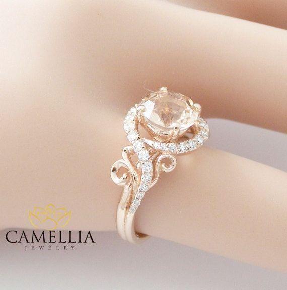 Trendy Beautiful Engagement Rings Under 1000 Dollars Google Rose Gold Morganite Ring Rose Gold Engagement Ring Rose Gold Engagement