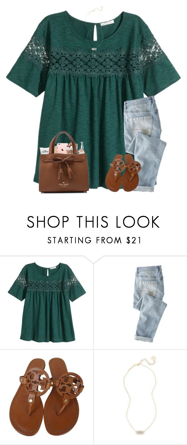 """i'm ready for warm weather"" by southerngirl03 ❤ liked on Polyvore featuring H&M, Wrap, Tory Burch and Kendra Scott"