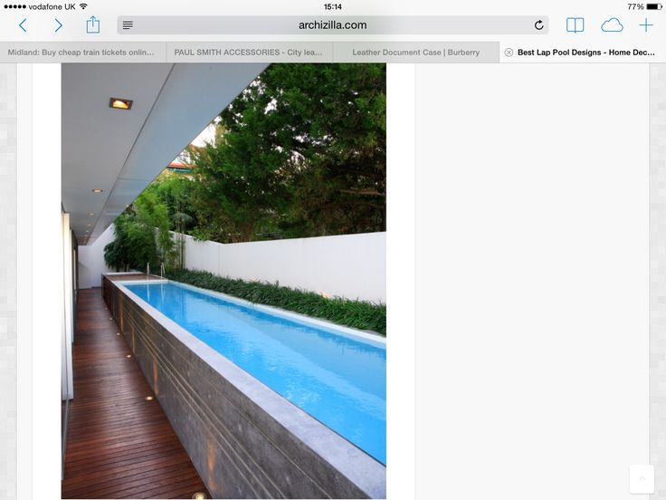 External lap pool