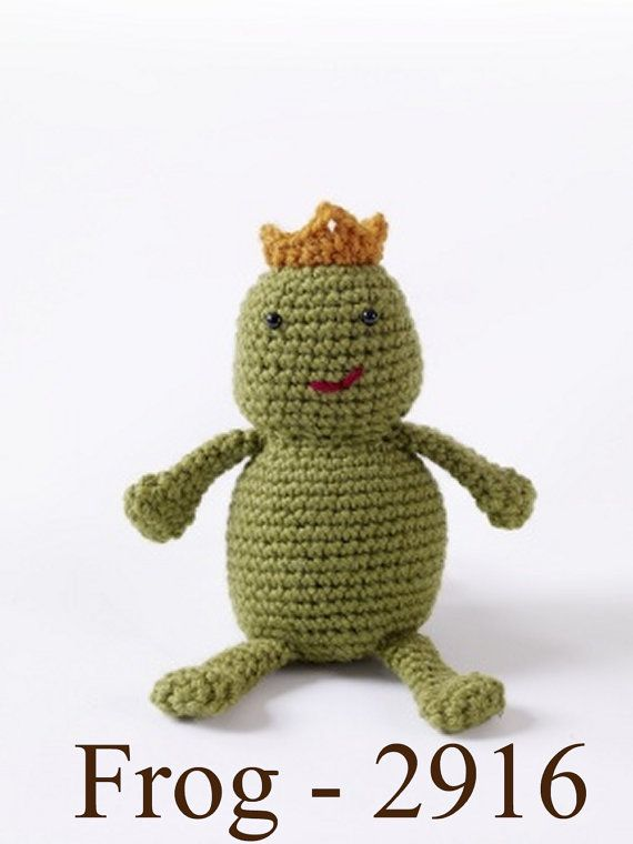 We All Need To Kiss A Frog FROG Toy 2916 CROCHET by ButtonItTight