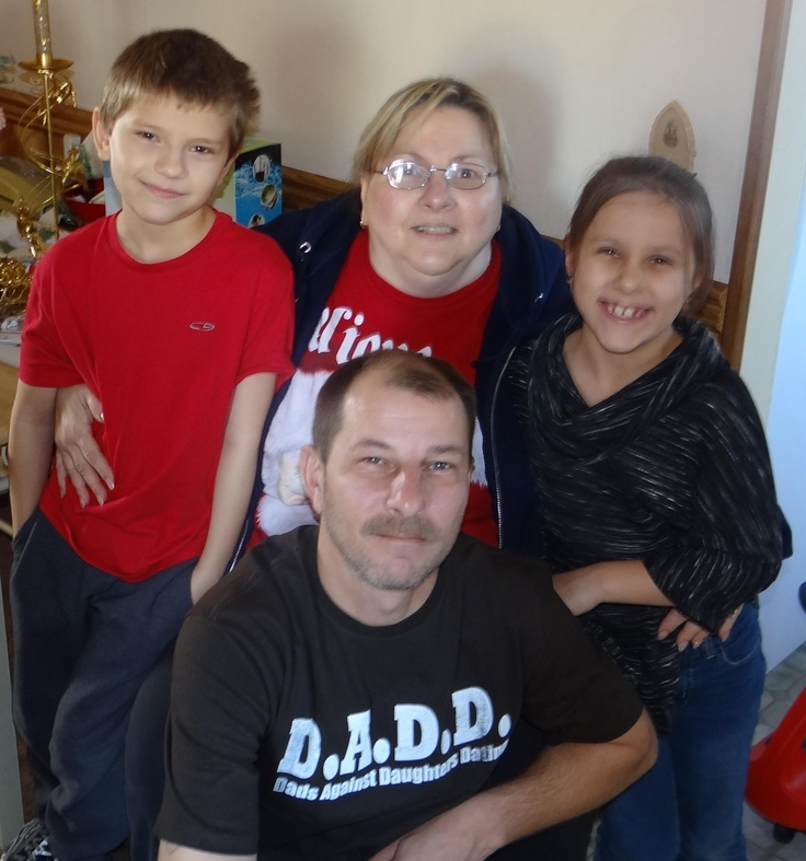 Left to right - Cody, me, Niki, and Tony on the bottom my oldest baby boy!