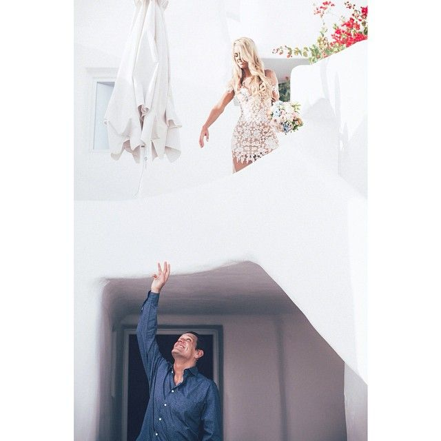 Before they saw each other for the first time, there was a hopeful reach! #AndronisExclusive #wedding #Romance #Santorini Photo credits:  @deardaisyweddings #AndronisExperience