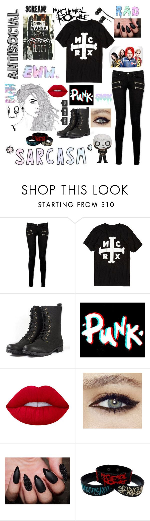 """Untitled #151"" by that-goth-cutie ❤ liked on Polyvore featuring Paige Denim, Lime Crime and Vans"