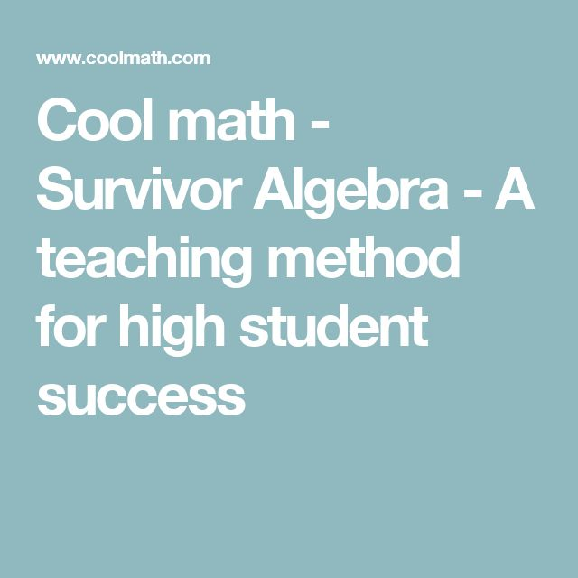 """[Mathematics] Cool math - Survivor Algebra ---  This teacher describes how he/she teaches """"Survivor Algebra"""". It seems to be focused on improving students' problem solving skills and having a more open-minded approach to mathematics. It is an interesting read, especially as a model for a class where a lot of the research on """"good math education"""" is put into practice."""