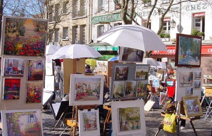 Montmartre Parijs, een zeer bekende en geliefde wijk.