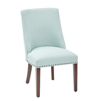 Corinne Mint Dining Chair with Walnut Brown Wood