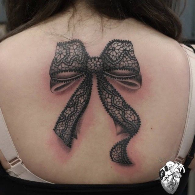 36 best cover up tattoos images on pinterest design for Lace bow tattoo