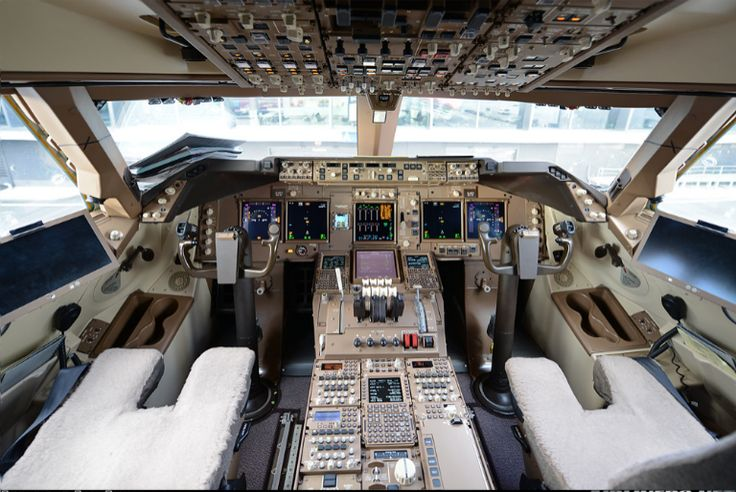 Cockpit of Boeing 747-830