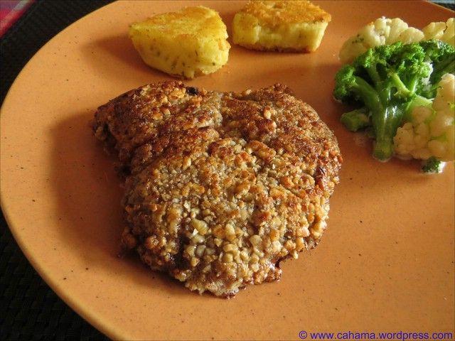 Reh-Schnitzel in Nuss-Panade   cahama