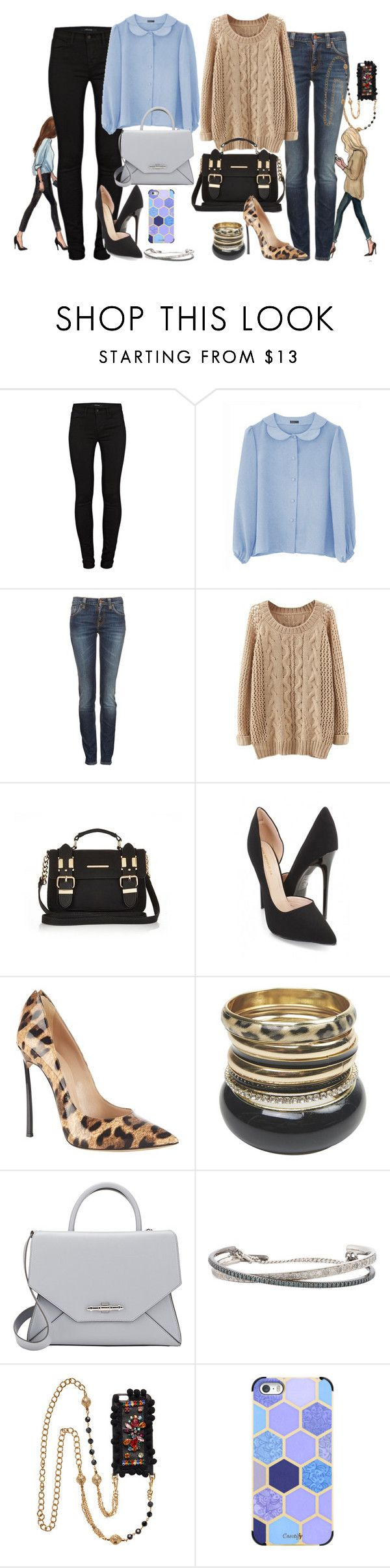 """""""Untitled #2618"""" by fashion-nova ❤ liked on Polyvore featuring moda, J Brand, Nudie Jeans Co., River Island, Casadei, Wet Seal, Givenchy, Roberto Marroni, Dolce&Gabbana y Casetify"""