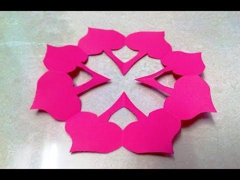 How to make KIRIGAMI paper cutting patterns and templates - 1