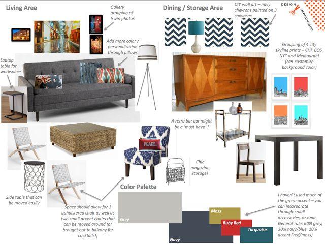 Emma's Urban Living Room: Mood Board