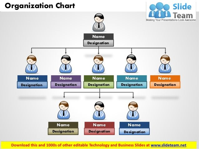 Horizontal Organization Chart Template. Hospital Organizational ...