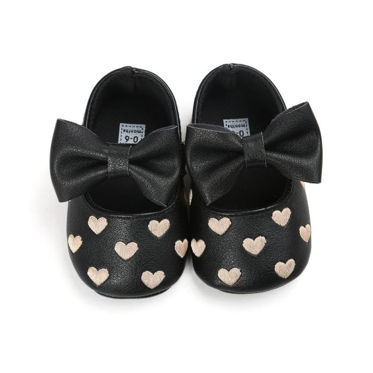These adorable soft shoes are a perfect fit for any little girl just learning to walk! These shoes are very sturdy but entirely soft soles, and the velco strap helps getting them on and off super easy