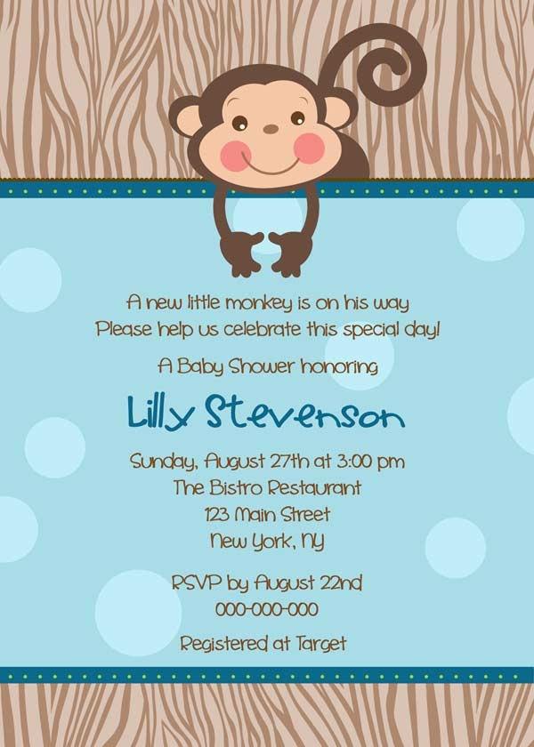 107 best Monkey Baby Shower ideas images on Pinterest | Baby boy ...