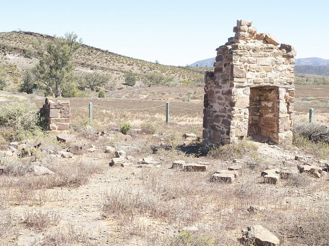 Remains of Youngoona Hut, Flinders Ranges, S.A.