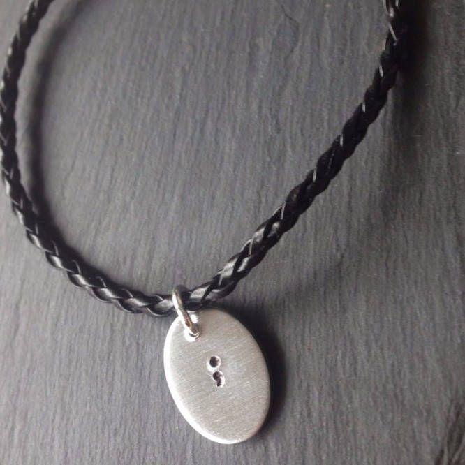Semicolon Bracelet, My story isn't over Bracelet, Mental Health Awareness Bracelet, Semicolon Jewellery by HannahLouiseShop on Etsy