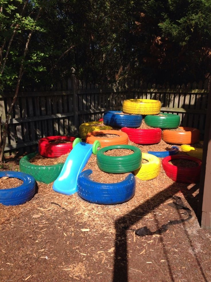 tyre playground! #reuse #recycle #repurpose #tyres #tire #diy #makeit #car #garden #plant #aboutthegarden