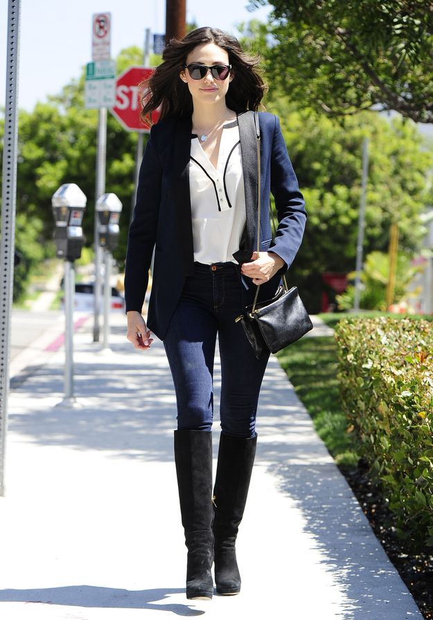 1. Emmy Rossum Out And About In Brentwood   The Most Fab And Drab Celebrity Outfits Of The Week
