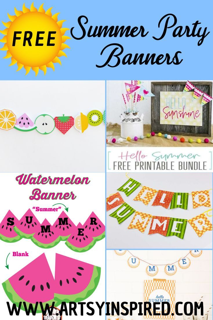 20 Free Summer Printables Party Banners And Decor Coloring Pages
