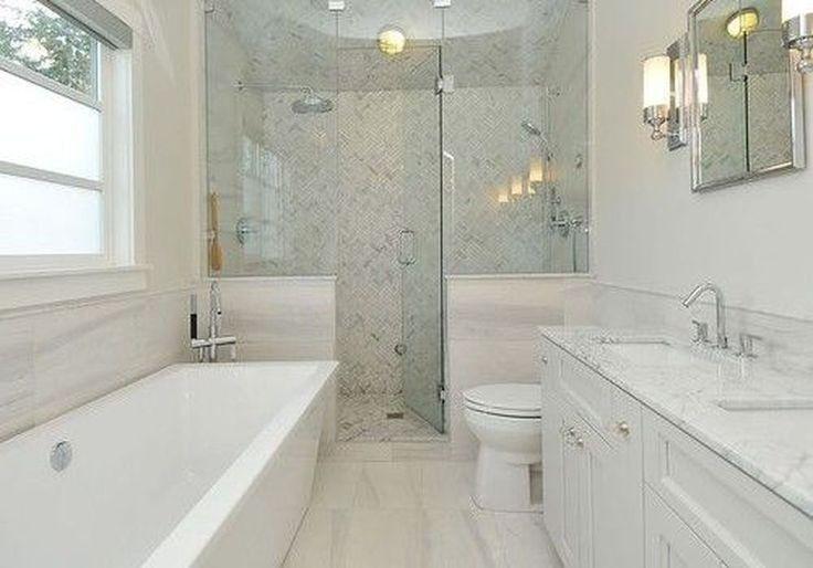 46 Beautiful Master Bathroom Remodel Design Ideas 46 Lingoistica Com Small Bathroom Remodel Bathroom Remodel Small Shower Bathroom Design Layout