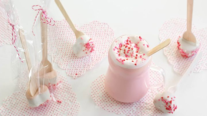 Pink Hot Cocoa on a Stick for a winter wedding drink! ~  we ❤ this! moncheribridals.com